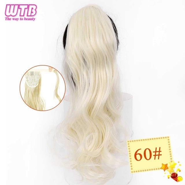 Long Wavy Wrap Around Clip In Ponytail Hair Extension 104 / 22inches