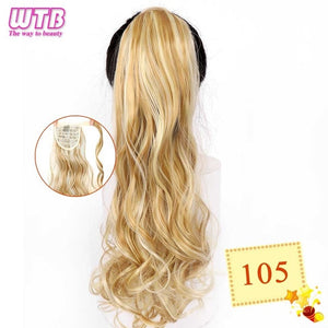 Long Wavy Wrap Around Clip In Ponytail Hair Extension 105 / 22inches