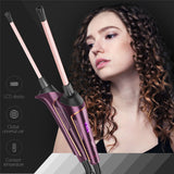 9MM LCD Display Hair Curler Wand