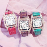 Square Luxury Diamond Women Watch