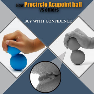 ProCircle Peanut Massage Ball Rubber Back Massage Ball