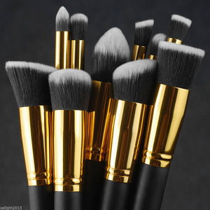 Kabuki Brush Set - Gold & Black