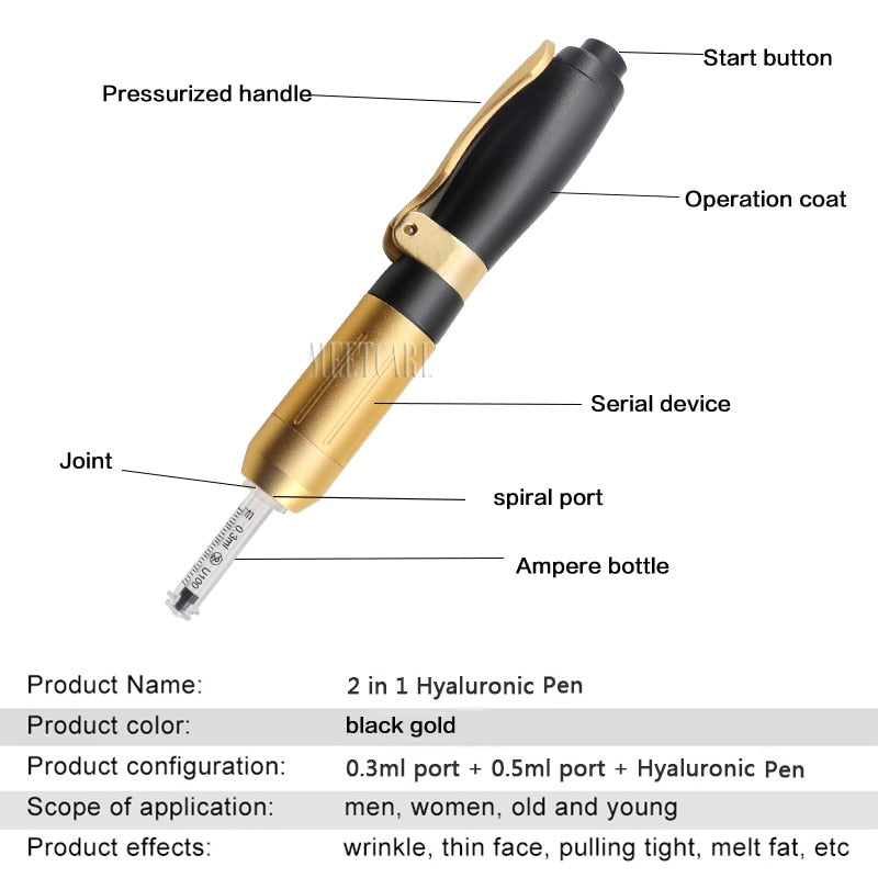 High Pressure Hyaluronic Acid Pen Hyaluron Pen