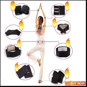 Tourmaline Self Heating Heated Thermal Magnetic Therapy Knee Support Brace Pad Belt
