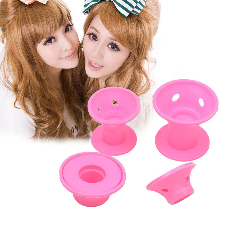 Set of 10 Silicone Hair Curlers - Foxy Beauty