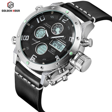 Multifunction Digital Quartz Analog Sport Watches for Men Waterproof Military Army Style