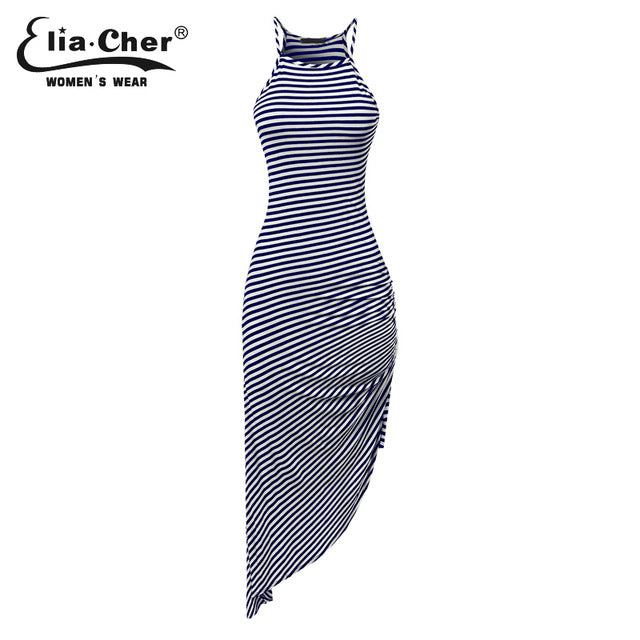 Summer Dress Stripedblue / L