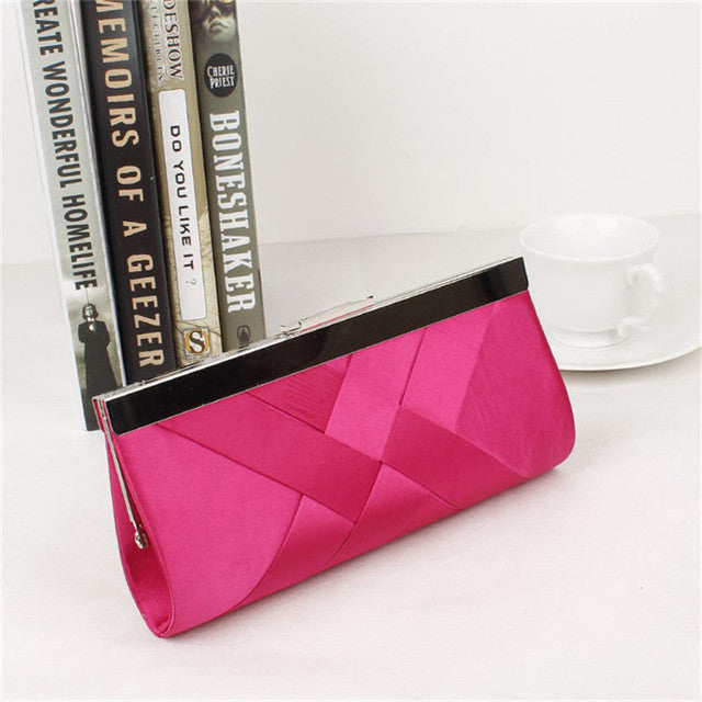 Clutch Evening Purse Rose Red