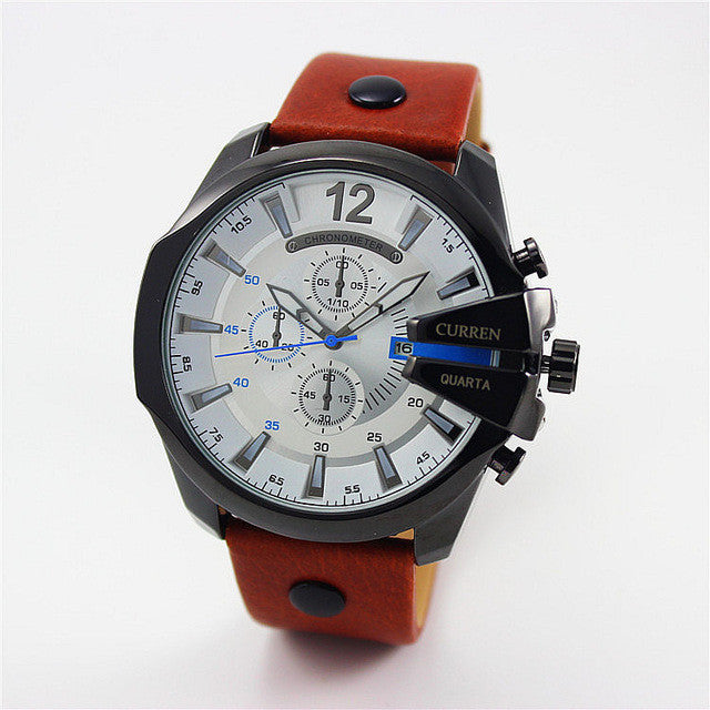 Curren Retro Watch black white