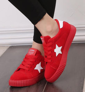 Eva Soles Platform Shoes Red / 5