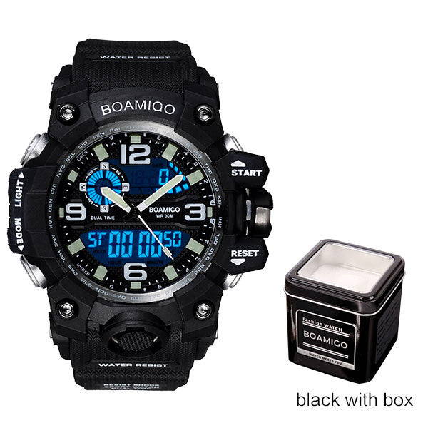 BOAMIGO Mens Sports Watch Black