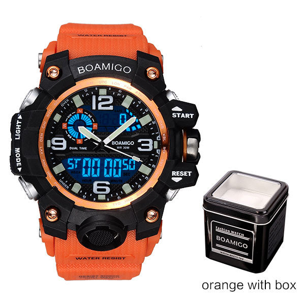 BOAMIGO Mens Sports Watch Orange