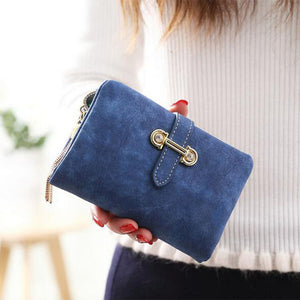 Soft Matte Suede Purse - 7 colors to choose from royal blue