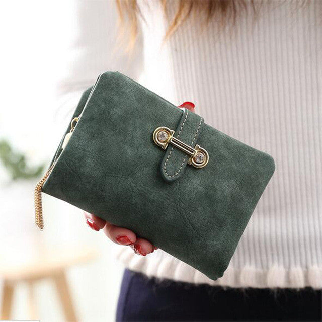Soft Matte Suede Purse - 7 colors to choose from green