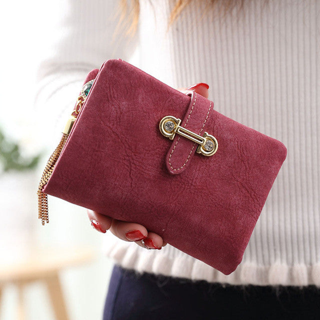 Soft Matte Suede Purse - 7 colors to choose from red