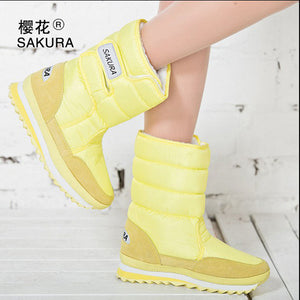 Women Snow Boots Yellow / 5.5