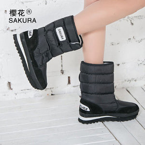 Women Snow Boots Black / 5.5