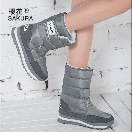 Women Snow Boots Gray / 5.5
