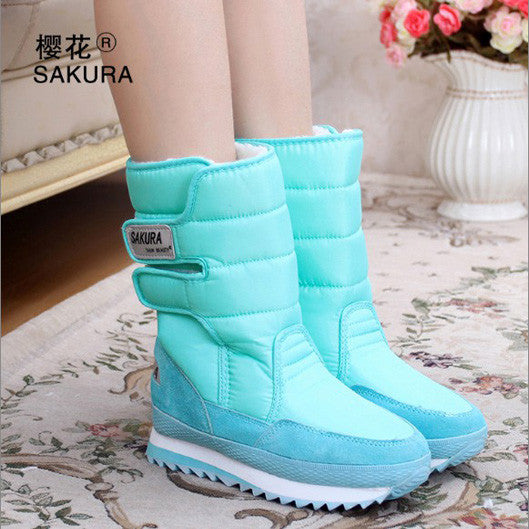 Women Snow Boots Light Blue / 5.5