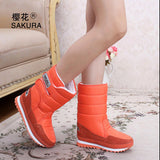 Women Snow Boots Orange / 5.5