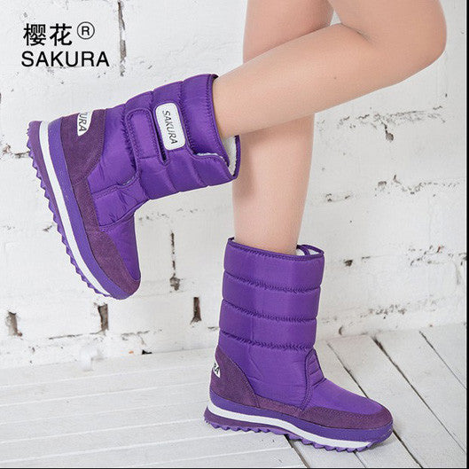 Women Snow Boots Purple / 5.5