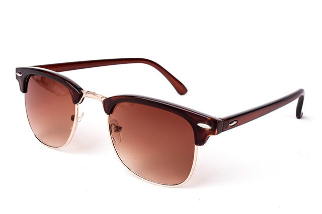 Cool High Quality Half Metal Mirror Sunglasses C5 brown brown
