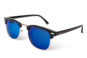 Cool High Quality Half Metal Mirror Sunglasses C6 black blue