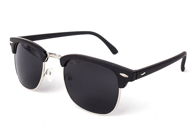 Cool High Quality Half Metal Mirror Sunglasses C11 matterblack gray