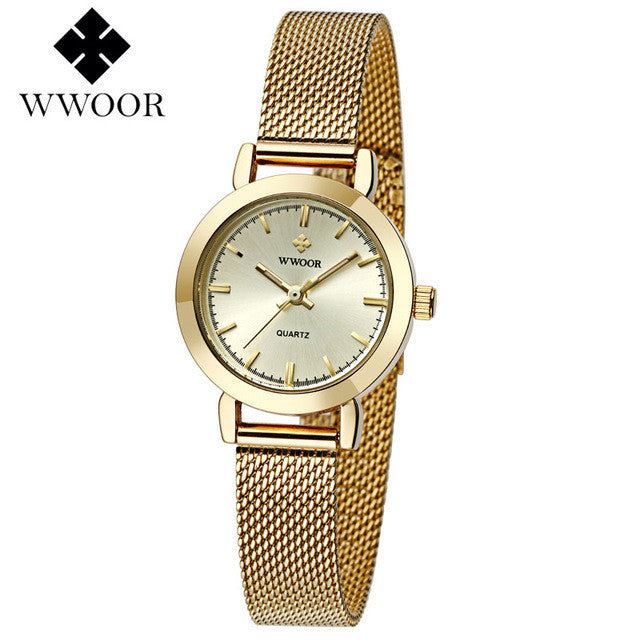 WOOR Women's Watch Gold