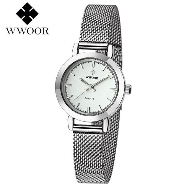 WOOR Women's Watch Silver White