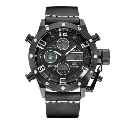Multifunction Digital Quartz Analog Sport Watches for Men Waterproof Military Army Style B W B