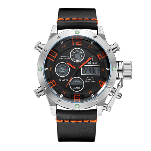 Multifunction Digital Quartz Analog Sport Watches for Men Waterproof Military Army Style S O B