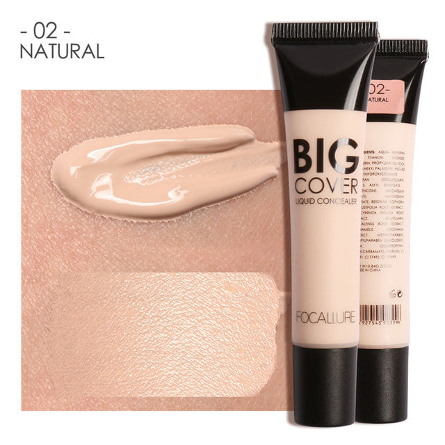 FOCALLURE Perfect Cover Face Concealer Cream Natural / China