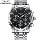 GUANQIN Watch Silver Black