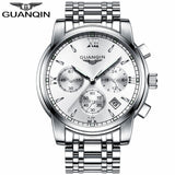 GUANQIN Watch Silver White