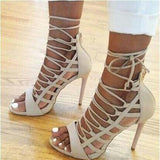 Sexy High Heels Open Toe Platform Gladiator Shoes