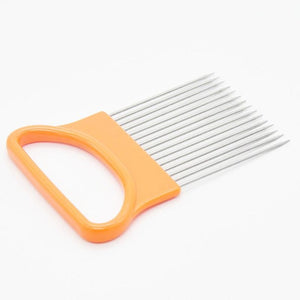 Stainless Steel Onion Holder Cutter Orange