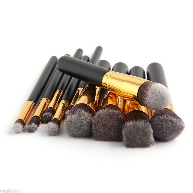 Kabuki Brush Set - Gold & Black Default Title