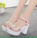 Sequins Diamond Sandals Pink