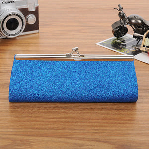 Chain Evening Glitter Bag Blue