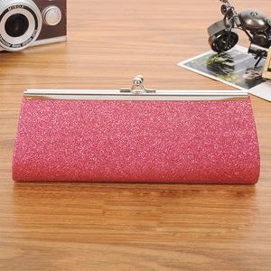 Chain Evening Glitter Bag Pink