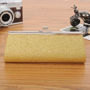 Chain Evening Glitter Bag Gold