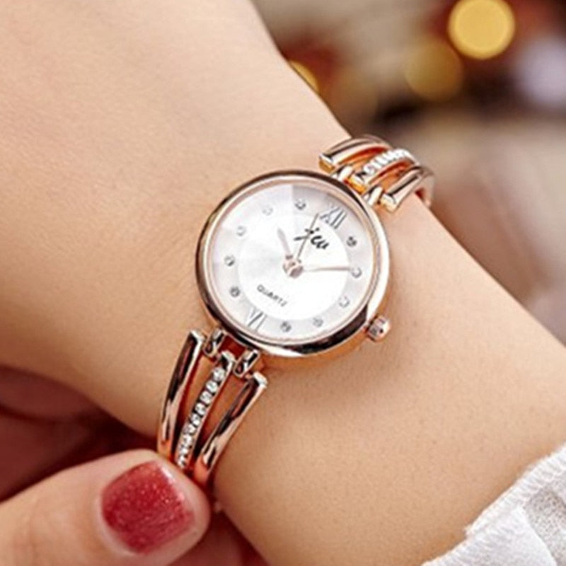 Luxury rhinestone ladies watch