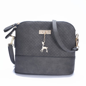 Shoulder or Cross-Body Mini Deer Bag Handbag dark grey / (20cm<Max Length<30cm)