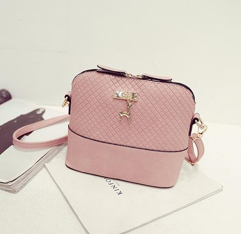 Shoulder or Cross-Body Mini Deer Bag Handbag light pink / (20cm<Max Length<30cm)