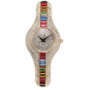 Miss Fox Crystal Women Watch Colorful