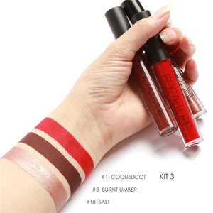FOCALURE 3 Sexy Colors Matte Liquid Lipstick Kit 3 / China