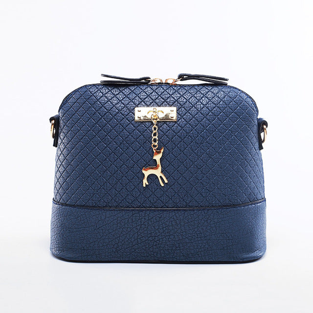Shoulder or Cross-Body Mini Deer Bag Handbag deep blue / (20cm<Max Length<30cm)