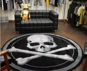 Crossbones Skull Rug Carpet