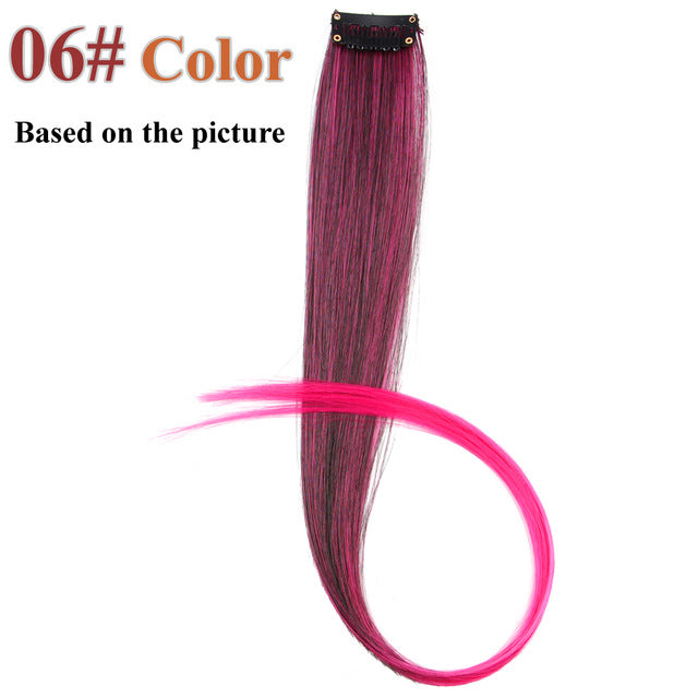 20 Colors 50CM Single Clip In One Piece Hair Extensions #6 / 20inches